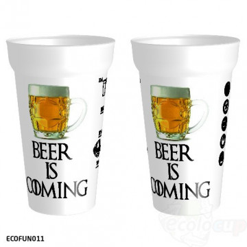 "Gobelet "" Beer is Coming """