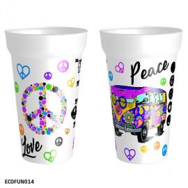 """Gobelet """" Peace & Love """""""
