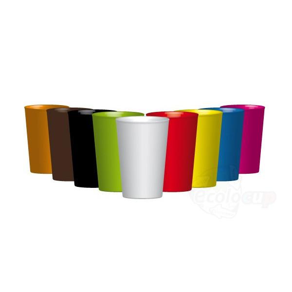 gobelet r utilisable de 25cl ras bord disponible en plusieurs couleurs. Black Bedroom Furniture Sets. Home Design Ideas