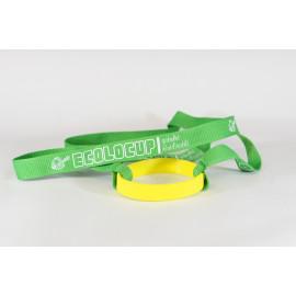 Pack de 10 portes gobelets vert et jaune