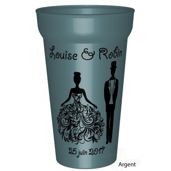 gobelet couleur mariage princesse - Gobelet Personnalis Mariage