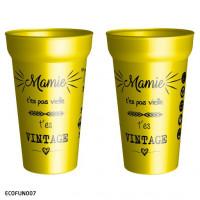 Le gobelet jaune des mamies cool ! -