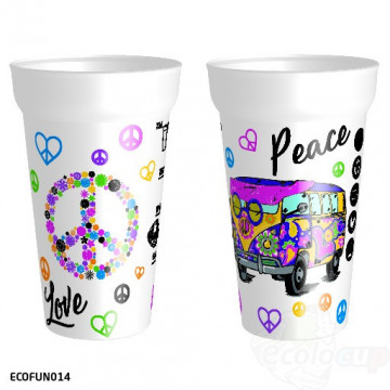 "Gobelet "" Peace & Love """