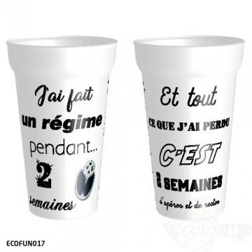 """Gobelet """" Régime """""""