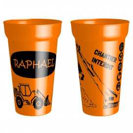 GOBELET ORANGE CHANTIER