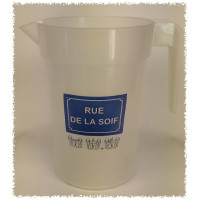 """Pichet de 1L """"RUE DE LA SOIF"""" - cadeaux"""