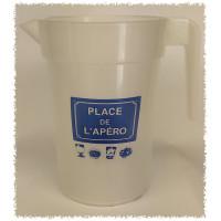 """Pichet de 1L """"PLACE DE L'APERO"""" - gobelet réutilisable"""