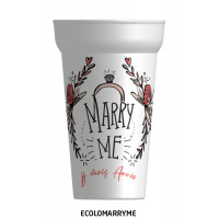 "Gobelet mariage ""MARRY ME"""