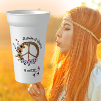 "cup personnalisable MARIAGE ""HIPPY FLOWER"""
