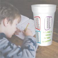 C'est le gobelet plastique prénomavec les tables de soustraction. Personnalisable à partir d'1 gobelet ! - g