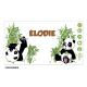 Gobelet personnalisé avec des pandas,et le prénom de votre choix. Personnalisable à partir d'1 gobelet ! - gobelet per