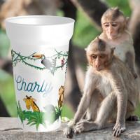 Gobelet nominatif personnalisé avec animauxde la jungle . Personnalisable à partir d'1 gobelet ! - cadeaux