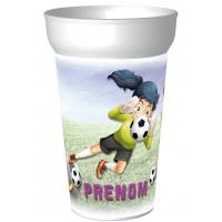 Gobelet personnaliséFootball féminin avec le prénom de votre choix. Personnalisable à partir d'1 gobelet ! -