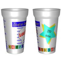 Gobelet personnalisé pour anniversaire avec le prénomet l'âge. - cadeaux