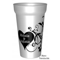 Gobelet 25/33clcouleuren plastique réutilisable personnalisé pour votre mariage Romantique: Les prénoms ains